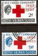 Solomon Islands 1963 Red Cross Centenary Set Fine Used