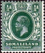 Somaliland Protectorate 1921 King George V SG 73 Fine Mint