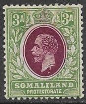 Postage Stamps Somaliland Protectorate 1912 King George V SG 63 Fine Mint Scott 54