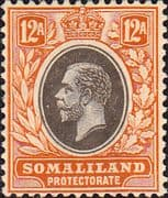Somaliland Protectorate 1921 King George V SG 81 Fine Mint