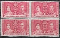 Somaliland Protectorate 1937 Coronation SG 90 Fine Mint Block of 4
