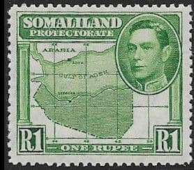 Somaliland Protectorate 1938 King George VI SG 101 Fine Mint