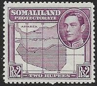 Somaliland Protectorate 1938 King George VI SG 102 Fine Mint