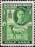 Somaliland Protectorate 1942 King George VI SG 105 Fine Mint