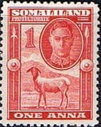 Somaliland Protectorate 1942 King George VI SG 106 Fine Mint