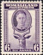 Somaliland Protectorate 1942 King George VI SG 110 Fine Mint
