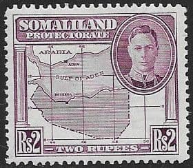 Somaliland Protectorate 1942 King George VI SG 114 Fine Mint
