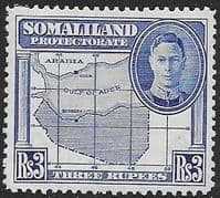 Somaliland Protectorate 1942 King George VI SG 115 Fine Mint
