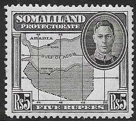 Somaliland Protectorate 1942 King George VI SG 116 Fine Mint