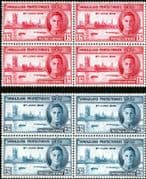 Somaliland Protectorate 1946 King George VI Victory Set in Block of 4 Fine Mint