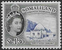 Stamps Somaliland Protectorate 1953 Queen Elizabeth SG144 Fine Mint Scott 135