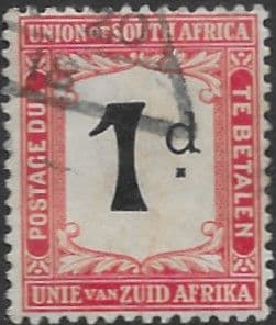 South Africa 1914 Post Due SG D2 Fine Used