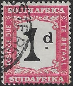 South Africa 1927 Post Due SG D 18 Fine Used