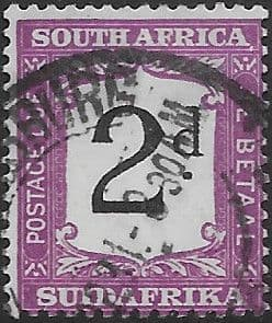 South Africa 1927 Post Due SG D 19a Fine Used