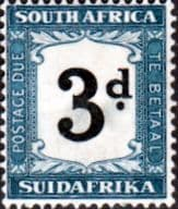 South Africa 1932 Post Due SG D27 Fine Used
