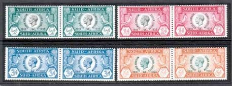 South Africa Stamps 1935 King George V Silver Jubilee