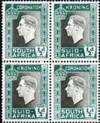 South Africa 1937 George VI Coronation SG 71 Fine Mint Block of 4