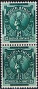 South Africa 1943 Redrawn Coil Stamp SG 105 Fine Mint Pair