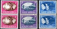 South Africa 1946 King George VI Victory Set Vertical Fine Mint