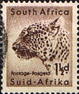 South Africa 1954 Wild Animals SG 153 Leopard Fine Used