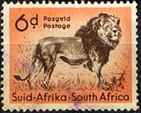 South Africa 1954 Wild Animals SG 158 Lion Fine Used