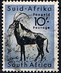 Stamps of South Africa 1954 Wild Animals SG 164 Antelope    Fine Used  Scott 213