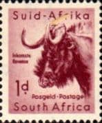 South Africa 1959 Wild Animals SG 171 Wildebeest Fine Mint