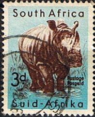 South Africa 1959 Wild Animals SG 172 Rhinoceros Fine Used
