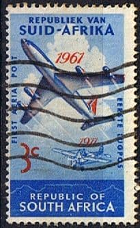 South Africa 1961 SG 220 Aerial Post Plane Fine Used