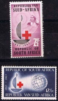 Stamps South Africa 1963 Red Cross Centenary Fine Mint