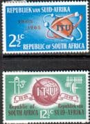 South Africa 1965 l.T.U. Centenary Set Fine Mint