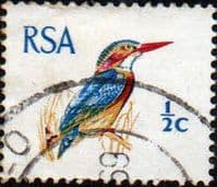 South Africa 1969 Natal Pygmy Kingfisher SG 276 Fine Used