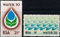 South Africa 1970 Water 70 Campaign Set Fine Mint