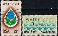 South Africa 1970 Water 70 Campaign Set Fine Used