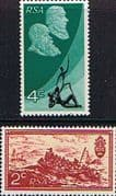 South Africa 1971 Tenth Anniversery of the Republic Reversed Watermark Set Fine Mint