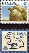 South Africa 1972 Sheep and Lamb Set Fine Mint