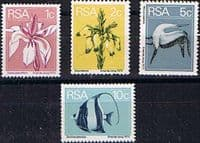 South Africa 1974 Flowers Birds and Fish Coil Set Fine Mint