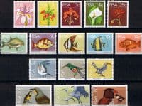 South Africa 1974 Flowers Birds and Fish Set Fine Mint