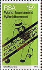South Africa 1976 World Bowls Champions SG 398 Fine Mint