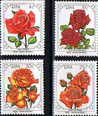 Stamps of South Africa 1979 Flowers World Rose Convention Set Fine Mint
