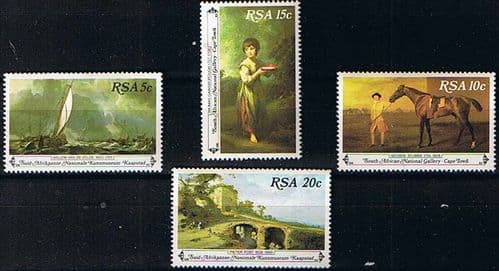 South Africa 1980 Paintings from National Gallery Set Fine Mint