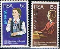 South Africa 1981 Institutes for Deaf and Blind Set Fine Mint