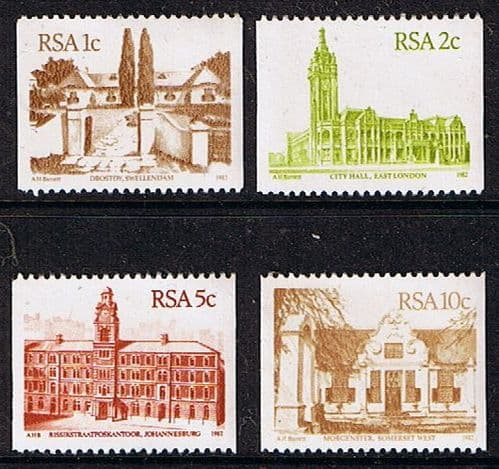 South Africa 1982 Coil Stamps Set Fine Mint