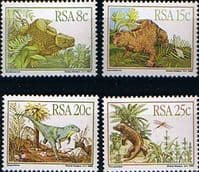 South Africa 1982 Karoo Fossils Prehistoric Animals Set Fine Mint