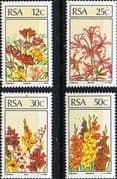 South Africa 1985 Flowers Floral Emigrants Set Fine Mint
