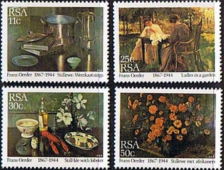 South Africa 1985 Paintings by Frans Oerder Set Fine Mint