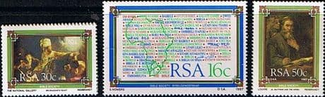 South Africa 1987 The Bible Society Set Fine Mint