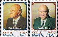 South Africa 1989 Inauguration of President F. W. de Klerk Set Fine Mint