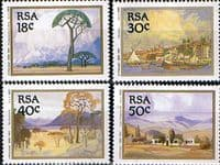 South Africa 1989 Jacob Hendrik Pierneef Paintings Set Fine Mint