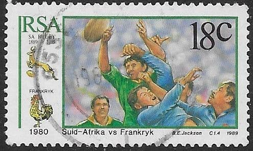 South Africa 1989 South African Rugby Board SG 685 Fine Used
